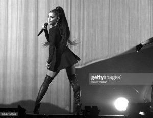 "Ariana Grande performs onstage during her ""Dangerous Woman"" tour at Madison Square Garden on February 23, 2017 in New York City."